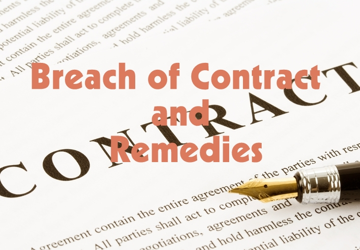 Simplynotes Breach Of Contract And Remedies Simplynotes