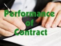 Performance of Contract- Business Regulatory Framework