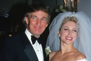 Donald Trump with his second wife Marla Maples