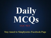Daily MCQs on UGC NET
